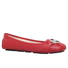 Baleriny Michael Kors Fulton bright red/stříbrné