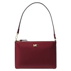 Kabelka Michael Kors Medium Leather Convertible Pouchette oxblood