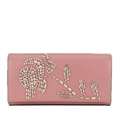 Kabelka Michael Kors Bellamie Embellished Leather Clutch rose pink