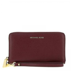 Peněženka Michael Kors Travel Large Smartphone Wristlet bordó