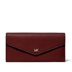 Kabelka peněženka Michael Kors Leather Envelope Wallet oxblood
