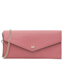 Kabelka peněženka Michael Kors Leather Envelope Wallet rose