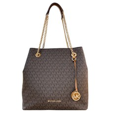 Kabelka Michael Kors Jet Set Chain LG Shoulder Tote brown