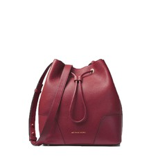 Kabelka Michael Kors Cary Medium Bucket oxblood