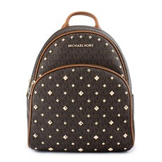 Kabelka Michael Kors Abbey Medium Stud Signature Backpack brown