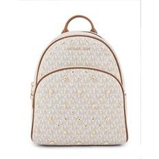 Kabelka Michael Kors Abbey Medium Stud Signature Backpack vanilla