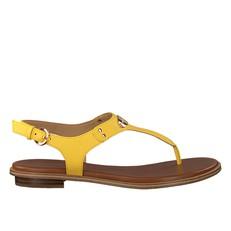 Kožené sandálky Michael Kors Plate Thong žlutá