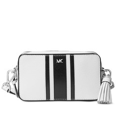 Kabelka Michael Kors Small Logo Tape Camera bílá