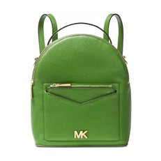Kabelka Michael Kors Jessa Small Pebbled Leather Convertible Backpack true green