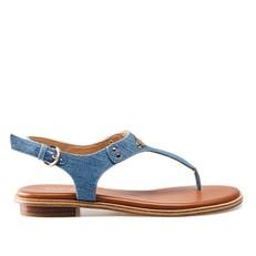Kožené sandálky Michael Kors Plate Thong denim
