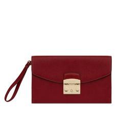 Kožená kabelka Furla Metropolis Envelope ciliegia
