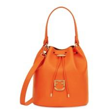 Kožená kabelka Furla Corona Bucket S mandarino
