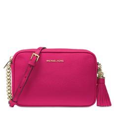 Kabelka Michael Kors Ginny Leather Crossbody ultra pink