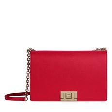 Kožená kabelka Furla Mimi Crossbody M ruby