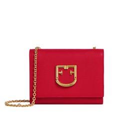 Kožená kabelka Furla Viva Mini Pochette ruby