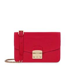 Kožená kabelka Furla Metropolis Shoulder S ruby