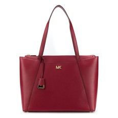 Kabelka Michael Kors Maddie Large Leather Tote maroon