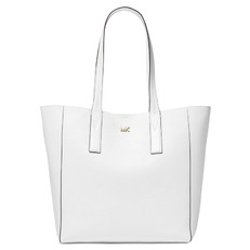 Kabelka Michael Kors Junie Large Pebbled Leather Tote optic white