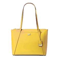 Kabelka Michael Kors Maddie Medium Crossgrain Leather Tote sunflower