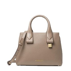 Kabelka Michael Kors Rollins Small Pebbled Leather Satchel truffle