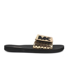 Obuv nazouváky Michael Kors Logo Perforated Metallic Slide