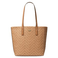 Kabelka Michael Kors Junie Large Woven Leather Tote acorn