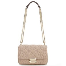 Kabelka Michael Kors Sloan Small Floral Quilted Leather Shoulder truffle