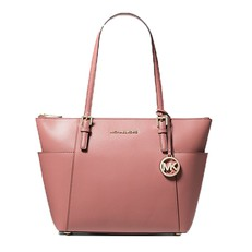 Kabelka Michael Kors Jet Set Top-Zip Saffiano Tote rose