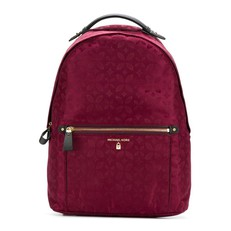 Batoh Michael Kors Kelsey Large Flower Backpack maroon