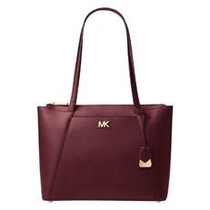 Kabelka Michael Kors Maddie Medium Crossgrain Leather Tote oxblood