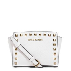 Kabelka Michael Kors Selma Mini Studded Leather optic white