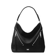 Kabelka Michael Kors Evie Large Pebbled Leather Shoulder černá