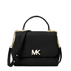 Kabelka Michael Kors Mott Medium Leather Satchel černá