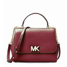 Kabelka Michael Kors Mott Medium Leather Satchel maroon