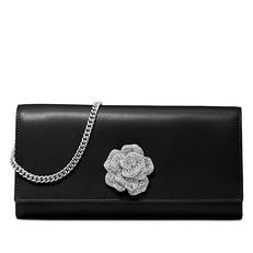 Kabelka Michael Kors Bellamie Rose Leather Clutch černá