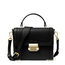 Kabelka Michael Kors Jayne Small Pebbled Leather Trunk černá