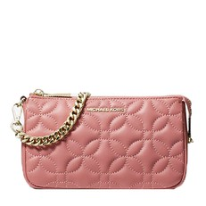 Kabelka Michael Kors Medium Floral Quilted Leather Chain Pouch rose
