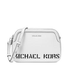 Kabelka Michael Kors Logo Double Zip Crossbody optic white