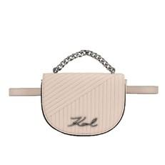 Kabelka ledvinka Karl Lagerfeld K/Signature Quilted Bumbag