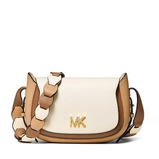 Kabelka Michael Kors Jolene Small Tri-Color Leather Saddle acorn/butternut