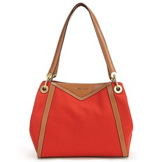 Kabelka Michael Kors Raven Large Canvas Shoulder terracotta