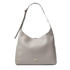 Kabelka Michael Kors Junie Medium Leather Shoulder pearl grey