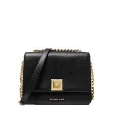 Kabelka Michael Kors Sylvia Medium Crossgrain Leather Crossbody černá