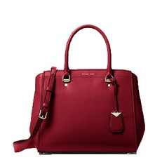 Kabelka Michael Kors Benning Large Leather Satchel oxblood
