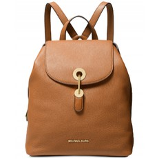 Kabelka batoh Michael Kors Raven Medium Pebbled Leather Backpack acorn