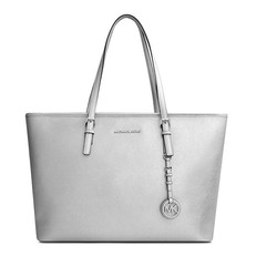 Kabelka Michael Kors Jet Set Travel Medium TZ Mult Funt Metallic Tote stříbrná