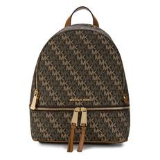 Kabelka Michael Kors Rhea Medium Backpack Signature brown/acorn