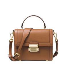 Kabelka Michael Kors Jayne Small Pebbled Leather Trunk acorn
