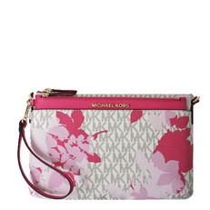 Kabelka Michael Kors Jet Set Travel Floral Messenger vanilla/pink
