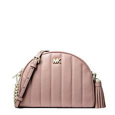 Kabelka Michael Kors Half Moon Quilted Crossbody fawn